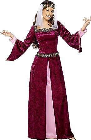 SmiffyS 30816X1 Disfraz De Lady Marion Color Borgoña Con Vestido ...