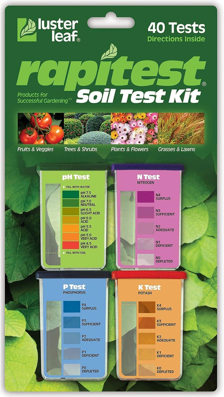 Luster Leaf 9 Rapitest Test Kit for Soil pH, Nitrogen, Phosphorous and  Potash, 9 Pack