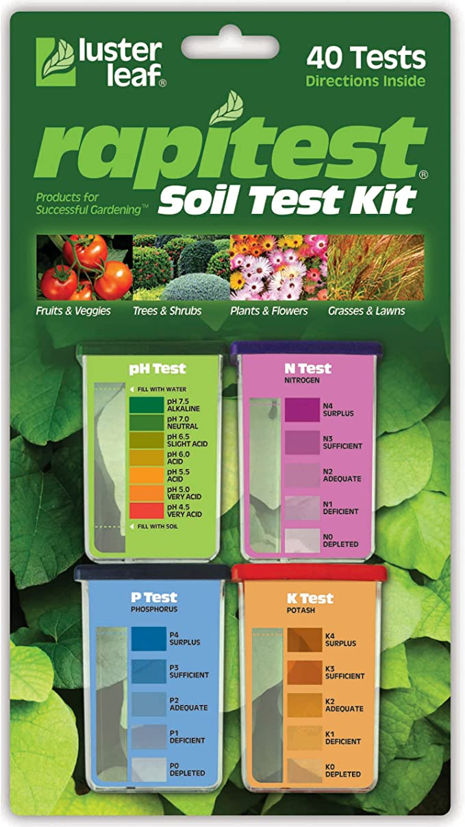 Luster Leaf Kit for Soil pH, Nitrogen, Phosphorous, and Potash - Easy to Use