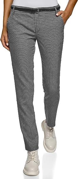 oodji Ultra Donna Pantaloni Basic con Cintura