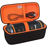 BOVKE Carrying Case for Bushnell Wingman Golf GPS Bluetooth Speaker, Extra Mesh Pocket for Charging Cords and Accessories, Bl
