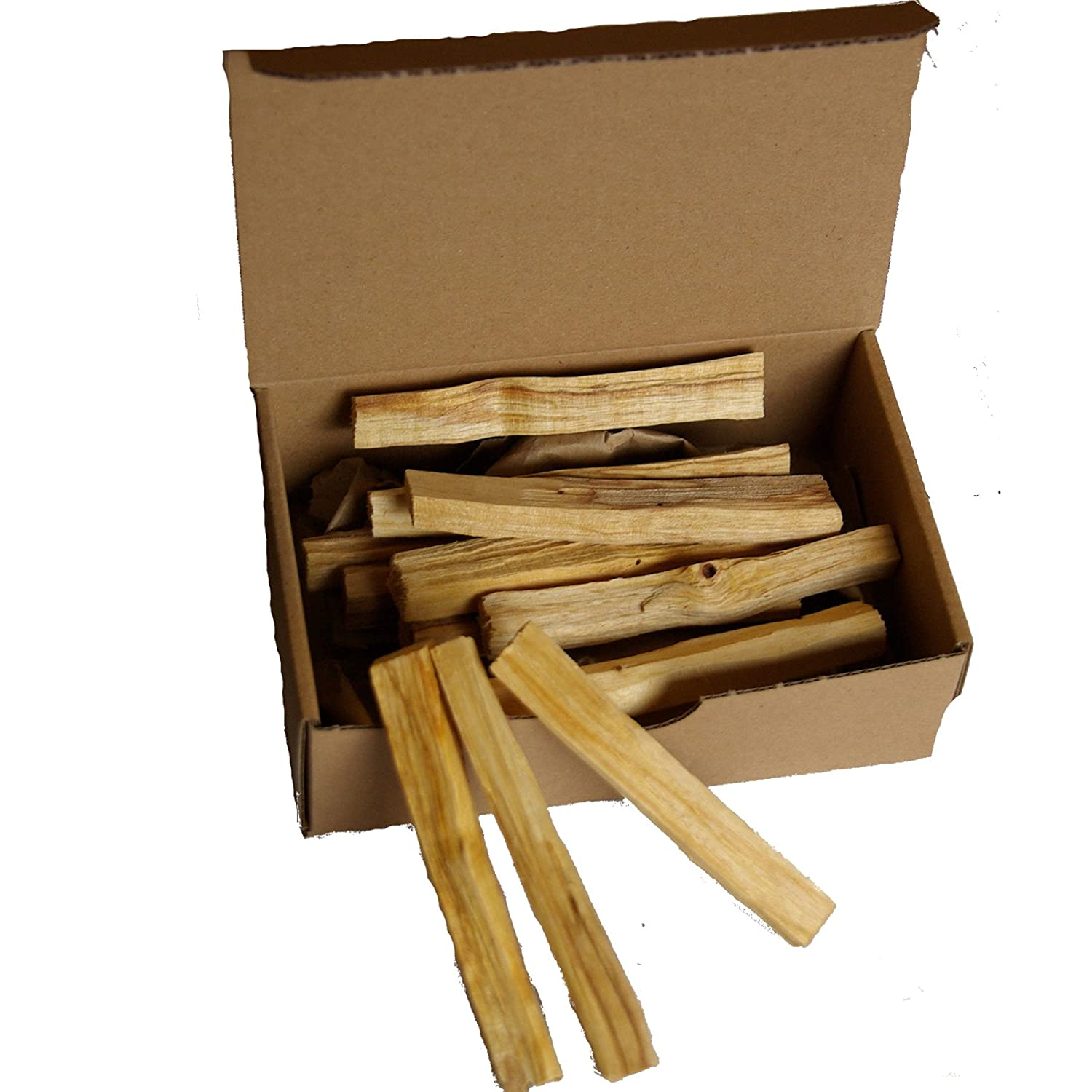 100gr Palo Santo (sacred wood) da Native Spirit® bulk pack (about ~18-21 bars per fine ~9-10x1x1cm; ~5-6gr/piece) -- deliciously fragrant 'Holy Wood' from Native Spirit®-- sustainably harvested direct from natives in South America Palo-Santo-wood-100