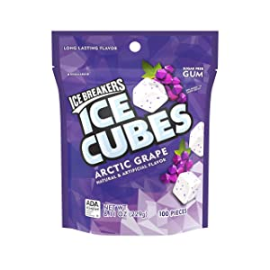 Ice Breakers Ice Cubes Gum, Arctic Grape, Sugar Free with Xylitol
