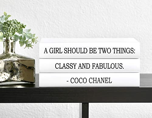 Amazon Com Fashion Designer Quote Classy And Fabulous Decorative Book Set Fashion Designer Quote Books Fashion Design Book Stack Coffee Table Books Hardcover Home Decor Handmade
