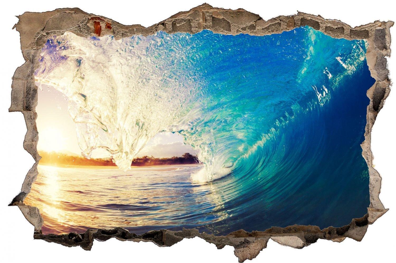 Wasser Welle Meer Surfen Wandtattoo Wandsticker Wandaufkleber D0370 Größe 120 cm x 180 cm