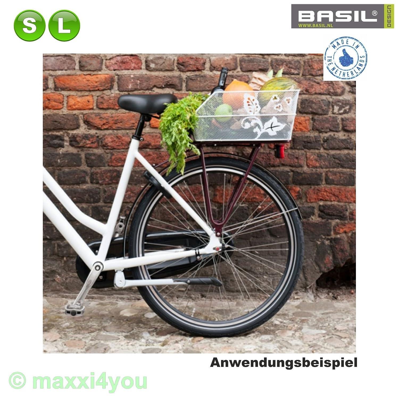 01170229 Basil Cento Flower Fahrradkorb Schulkorb Korb Pink Größe S