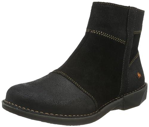 Art Bergen, Women's Ankle Boots, Black (Wax Black), 4 UK (