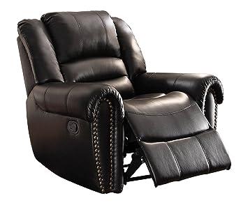 Homelegance 9668BLK-1 Glider Reclining Chair Black Bonded Leather  sc 1 st  Amazon.com & Amazon.com: Homelegance 9668BLK-1 Glider Reclining Chair Black ... islam-shia.org
