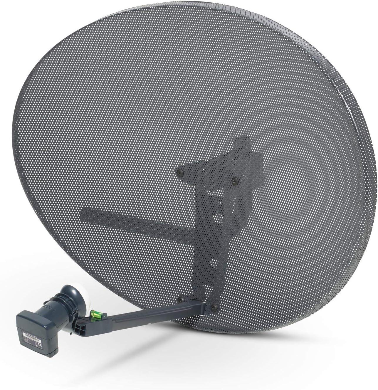 SSL Satellites Zone 2 Quad Satellite Signal Finder Twin 50 Meter White Cable FTA LNB Signal Pointer Satellite TV Finder