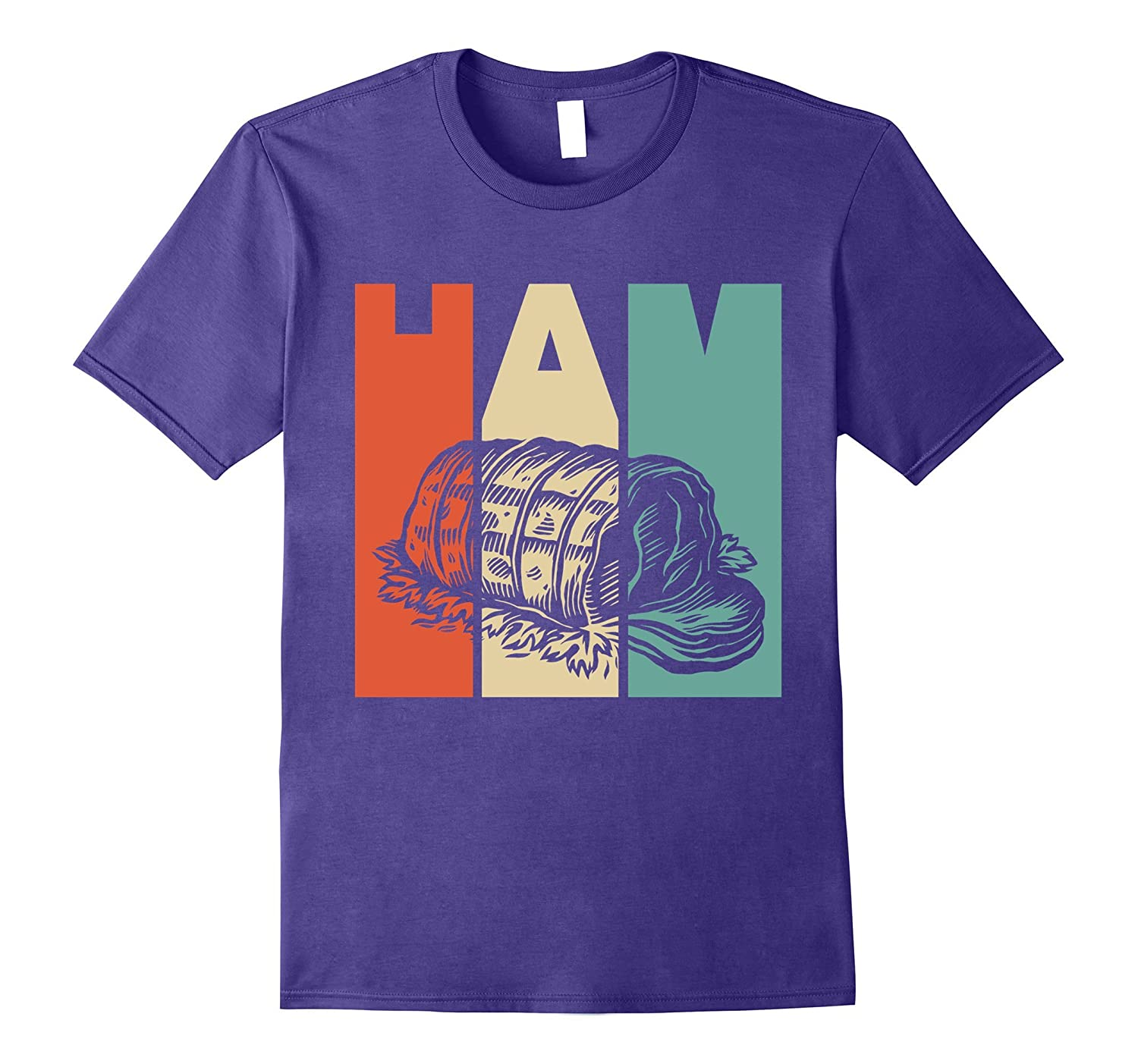 Vintage Style Ham Silhouette T-Shirt-ANZ