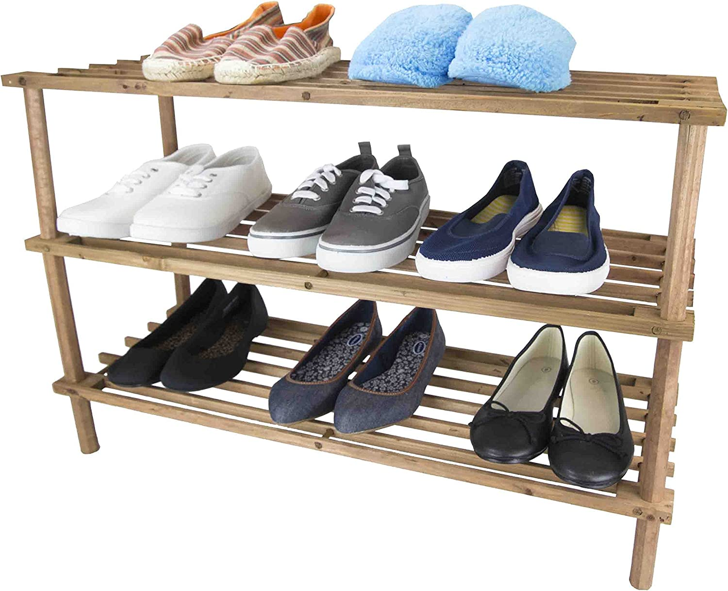 Home Basics Shoe Rack, Cherry