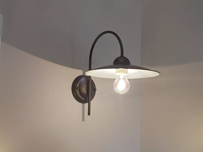 Rustica a m lampada parete applique classico rustico
