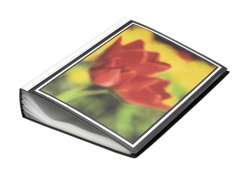 View 100, formato A4, con maniche e tasche nella parte anteriore, colore: nero FolderSys P479758
