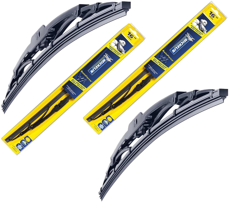 Juego de escobillas de limpiaparabrisas delanteras tradicionales Michelin Rainforce 500 mm + 560 mm: Amazon.es: Coche y moto