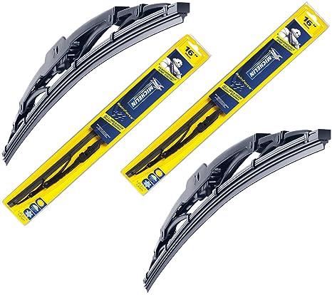 Juego de escobillas de limpiaparabrisas delanteras tradicionales Michelin Rainforce 500 mm + 560 mm