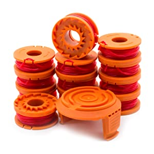 Garden Ninja [13-Pack Replacement Trimmer/Edger Spool for WA0010, 12-Spool with 1 Cap