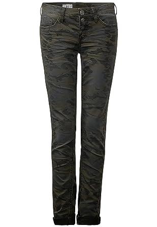 Camouflage Authentic Street Femme 32l One Jeans X Vert 27w 8nOX0wPk
