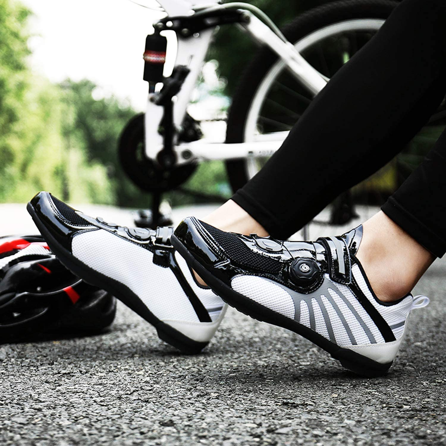 Unisex Riding Sneaker Compatible with+SPD Cleats for Outdoor Lock Pedal Bike SYLPHID Men/'s Cycling Shoes Women/'s Road Bike Spin Shoes