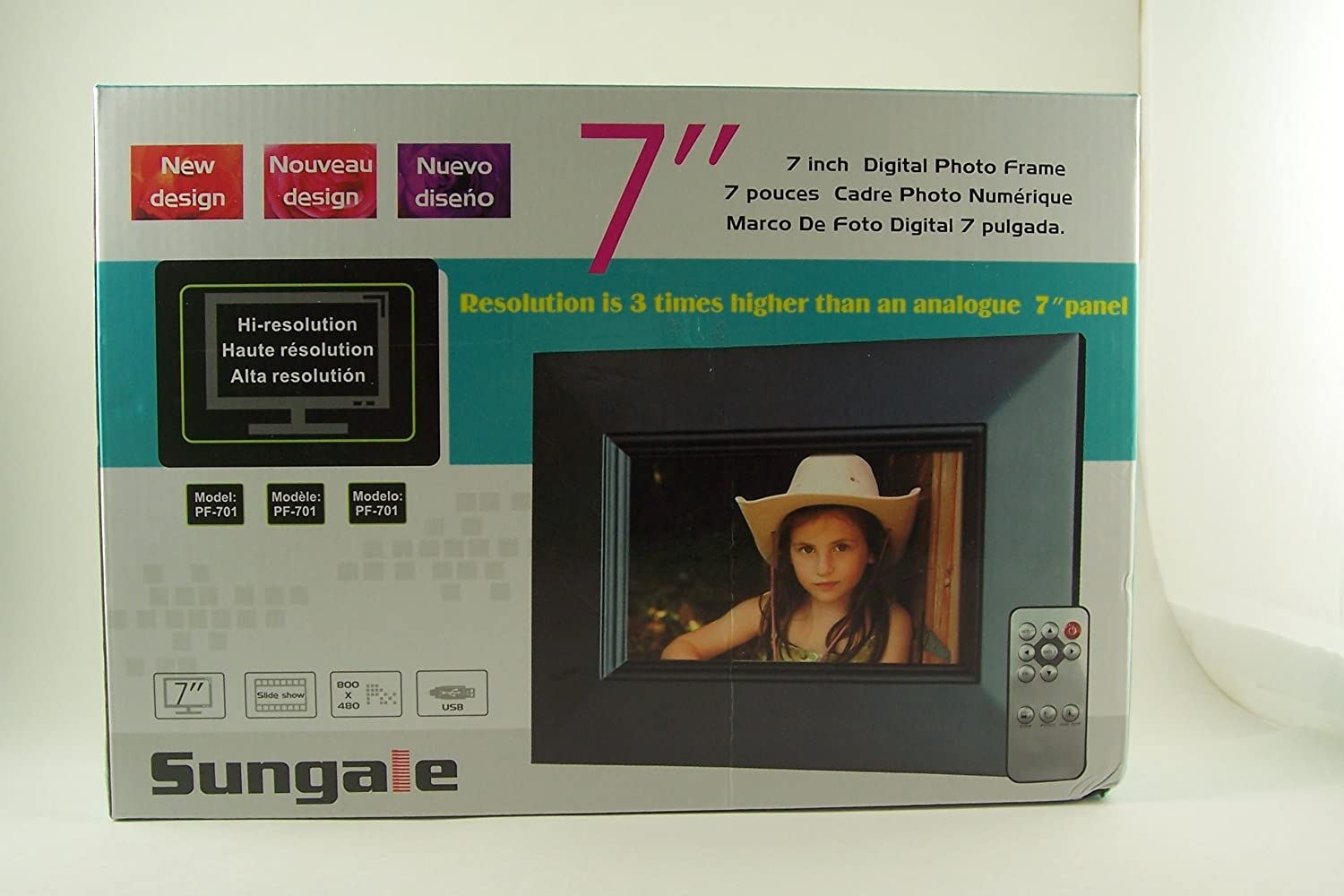 Amazon.com : Sungale PF-701 7-Inch Digital Photo Frame : Electronics