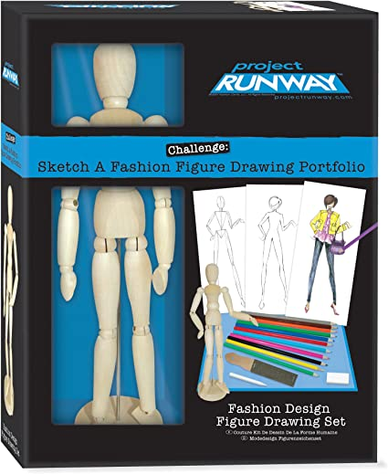 Amazon Com Project Runway Fashion And Figure Drawing Set Toys Games