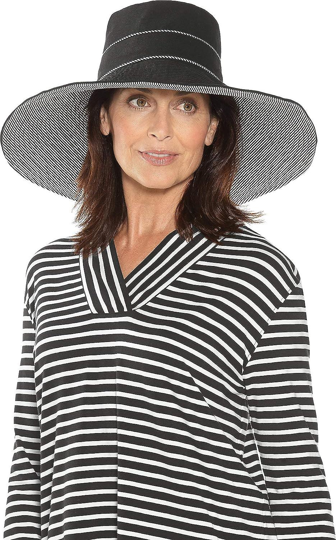 Coolibar UPF 50+ Women's Marissa Reversible Beach Hat - Sun Protective