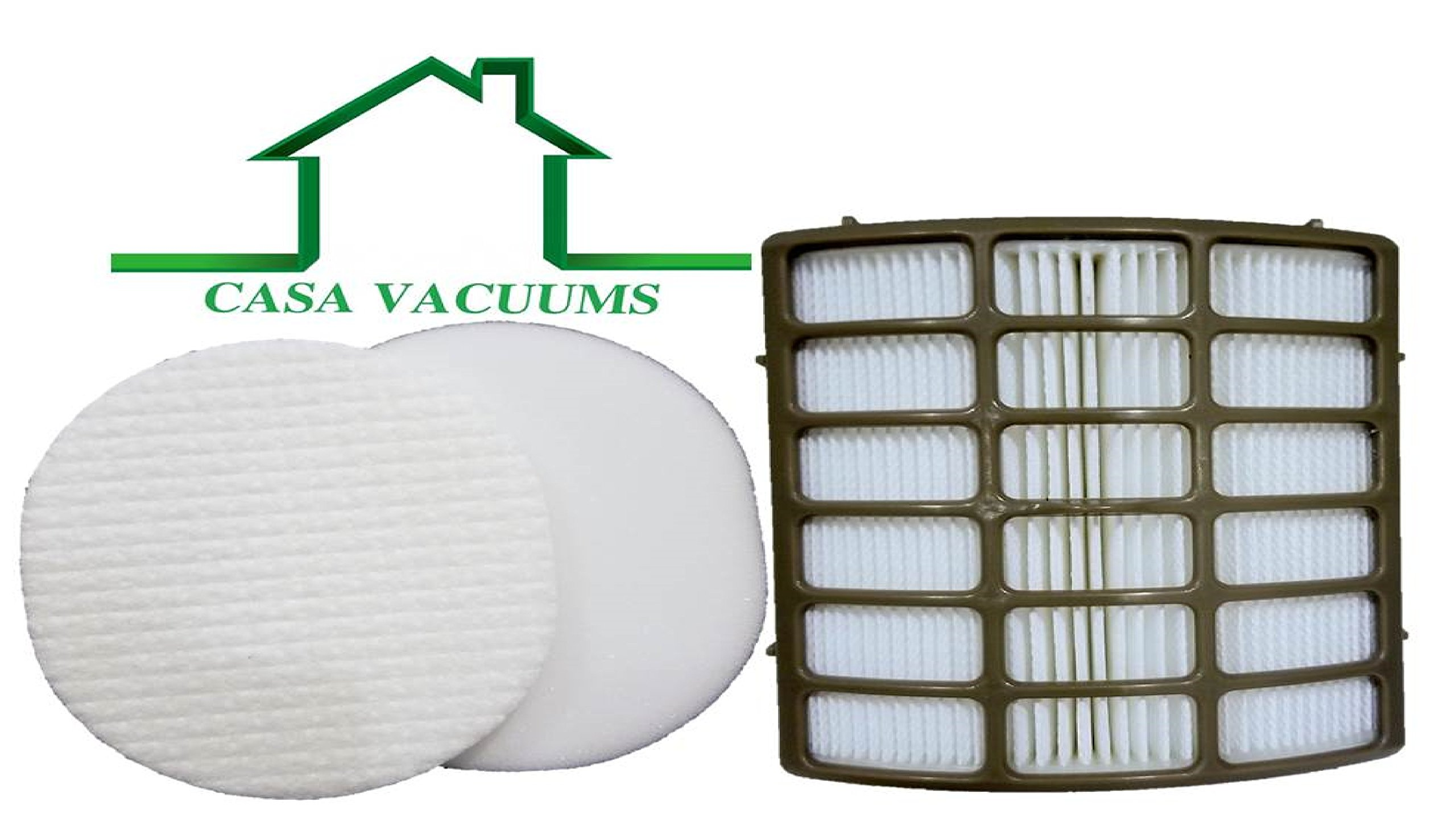 Shark Navigator Professional Upright Vacuum Filter Kit fits NV80, NV60, NV70, NVC80C, UV420, NV90, NV95 part # XFF80 & XHF80, by Casa Vacuums