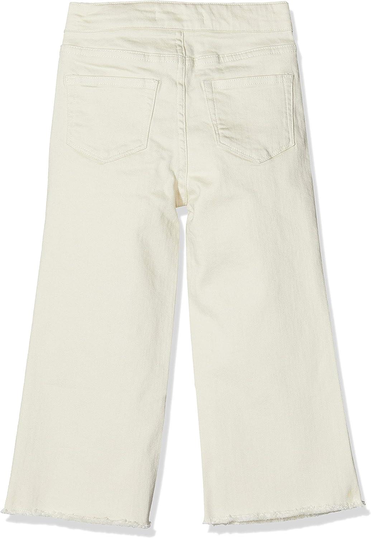 Scotch /& Soda High Waist Wide Leg Cotton Twill Pants with Shell Tie Pantalon Fille