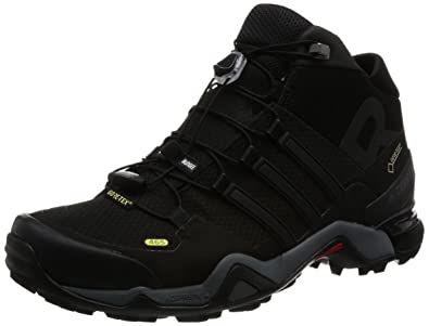adidas Men's Terrex Fast R Mid Gtx Cblack and Ftwwht Trekking and Hiking  Boots - 12
