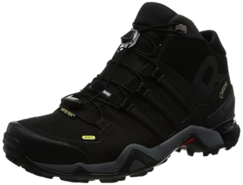 68c49535e Adidas Men s Terrex Fast R Mid GTX Cblack and Ftwwht Trekking and Hiking  Boots - 12