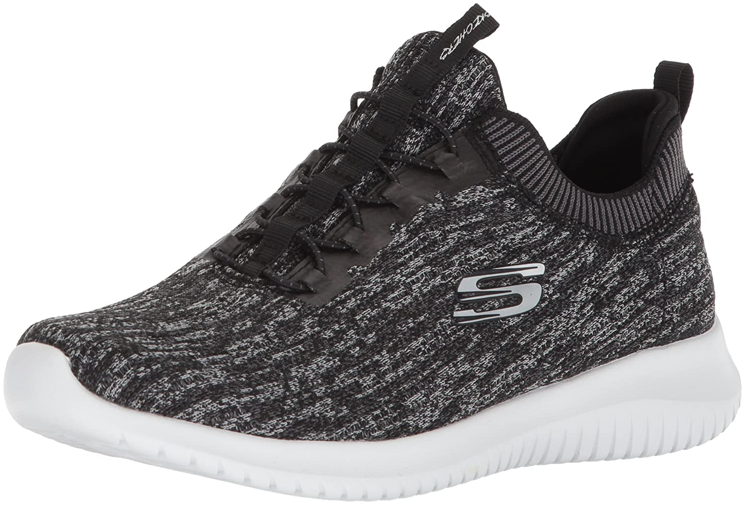 Skechers Women's Ultra Flex Bright Horizon Sneaker B01MYAM4MR 5 B(M) US|Black Gray