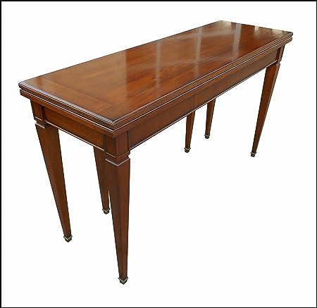 Tavolo A Consolle In Stile Classico Antico Apribile Allungabile Amazon It Casa E Cucina