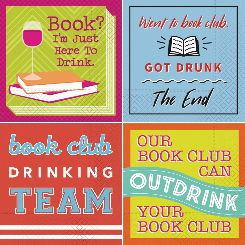 Cocktail Napkin Bookclub - Book Cocktail Napkins Book Club Variety Pack Box 40 Total Napkins