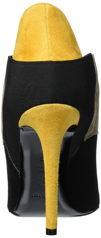 Pollini Shoes, Zapatos de Cordones Brogue para Mujer, Mehrfarbig (Black + Beige + Yellow 00A), 37 EU