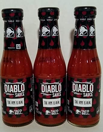 Amazon Com Taco Bell Diablo Sauce 7 5 Oz Pack Of 3 Grocery Gourmet Food They lose their flavor over time, and those plasticky metal packets only go so far to. taco bell diablo sauce 7 5 oz pack