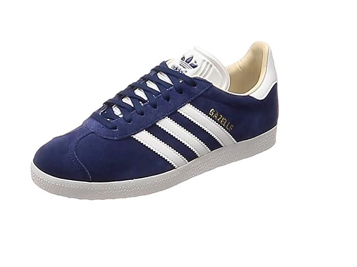 adidas Damen Gazelle Fitnessschuhe Sneaker Blau mit weißen Streifen