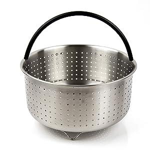 The Tinker Mart - 6qt & 8qt Instant Pot Accessories - Stainless Steel Steamer Basket for InstaPot 6 Quart & 8 Quart Pressure Cooker - Fits IP Insta Pot 6 qt & 8 qt - 6Quart & 8Quart Insert