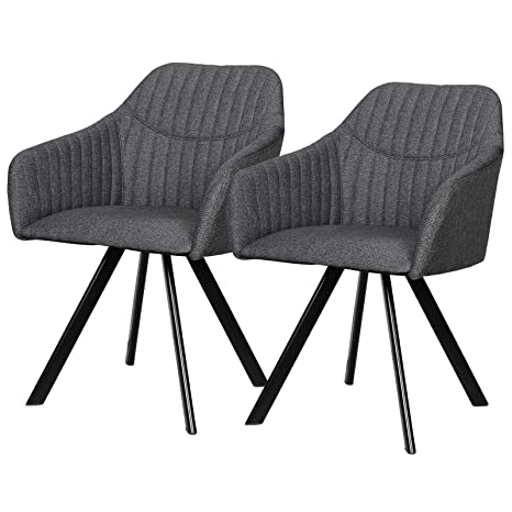 eSituro DC55 - Juego de 2 sillas de Comedor para Cocina ...