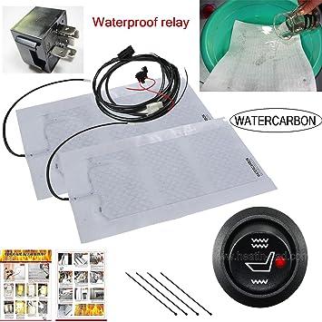 Agua impermeable 100 asiento auto calentador de asiento de carbono con cálido coche eléctrico calefacción asiento