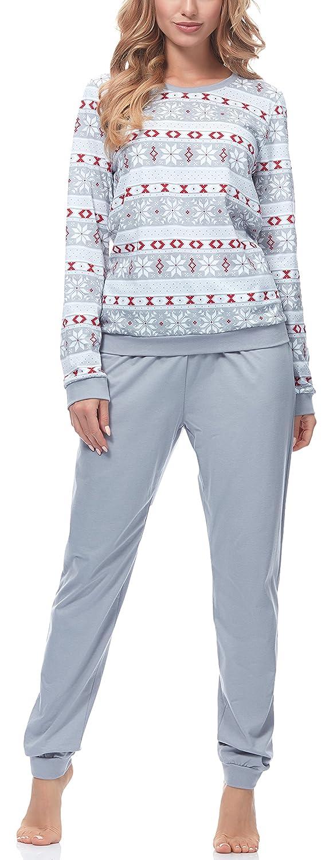 Ladeheid Pijama Conjunto Camisetas y Pantalones Ropa de Casa Mujer LA40-103