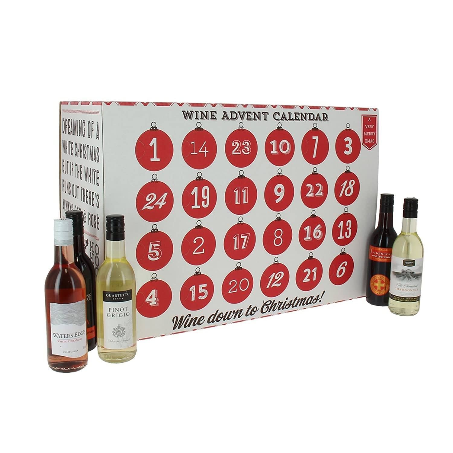 Wine Christmas Advent Calendar - 24 x 18.75cl: Amazon.co.uk: Beer, Wine &  Spirits