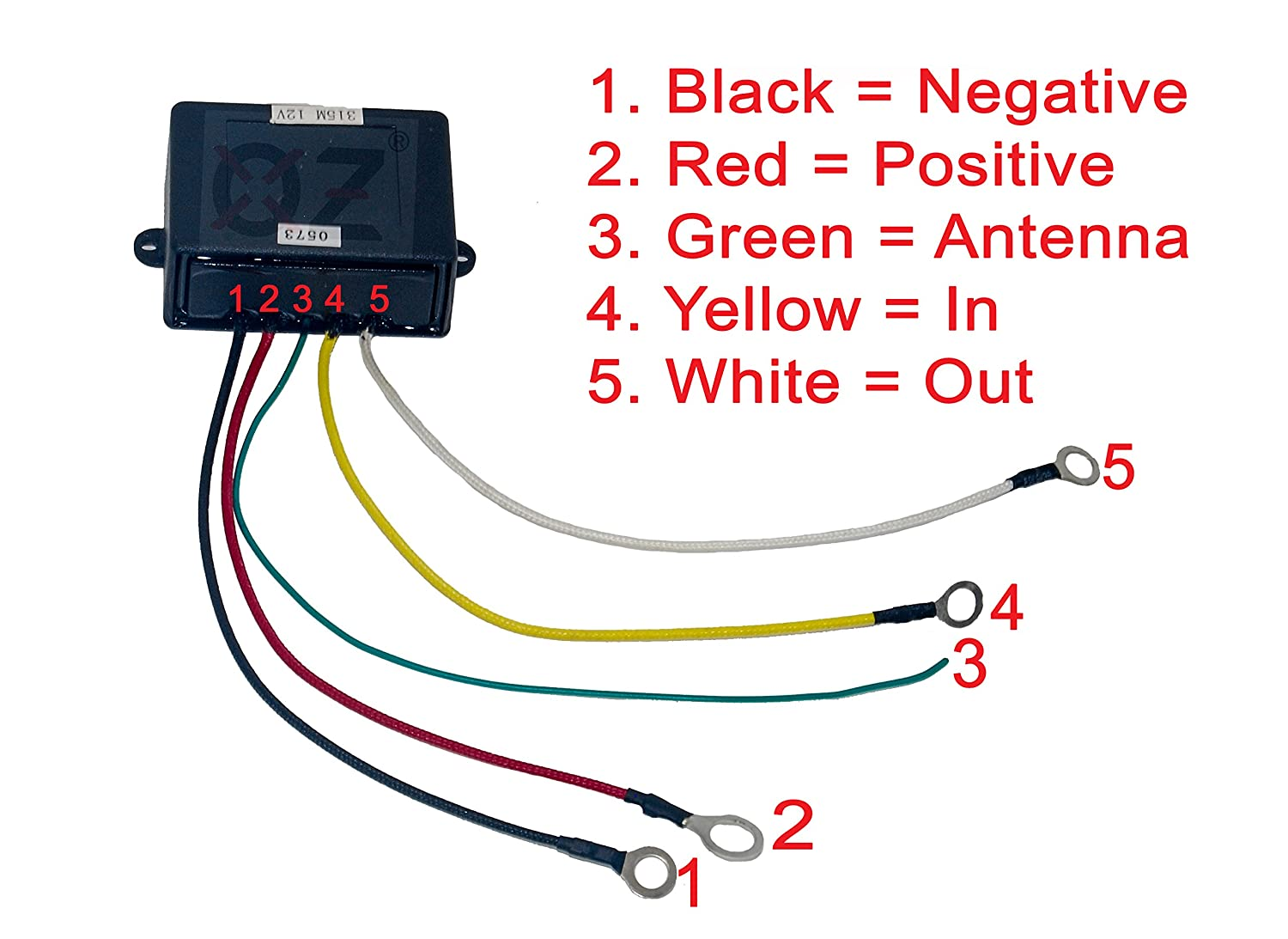 Wireless Winch Remote Oz Usa Control Switch Lift Gate Box Truck Wiring Diagram Hydraulic Pump Dump Bed 12v Recovery Tow V Automotive