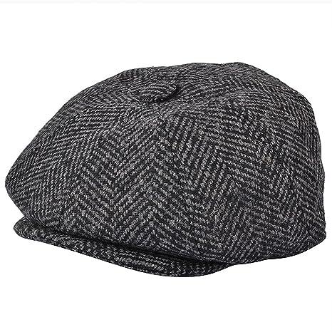 G   H Charcoal Herringbone Newsboy Cap (57cm)  Amazon.co.uk  Clothing 570dc55a76e9