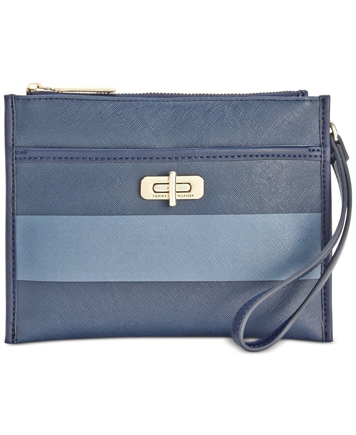 Tommy Hilfiger womens Rugby Stripe Wristlet (French Blue)