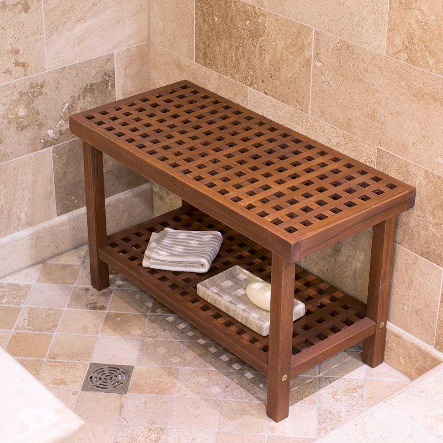 build tips lonielife shower decoration of how stool teak bench to wood