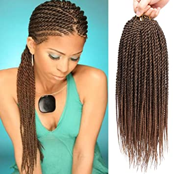Amazoncom 6packslot 18 Inch Senagalese Twist Crochet Hair Small