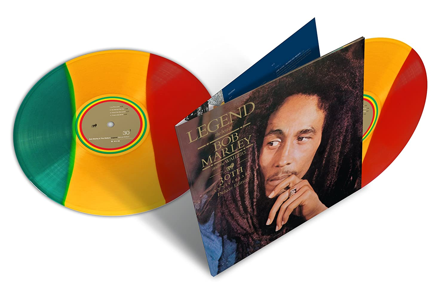 Bob marley and the wailers legend 30th anniversary edition tri bob marley and the wailers legend 30th anniversary edition tri color 2 lp amazon music thecheapjerseys