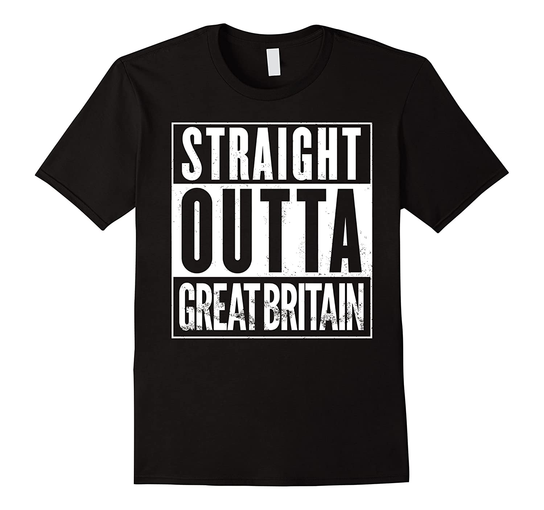 Straight Outta GREAT BRITAIN Funny Retro T-Shirt-FL