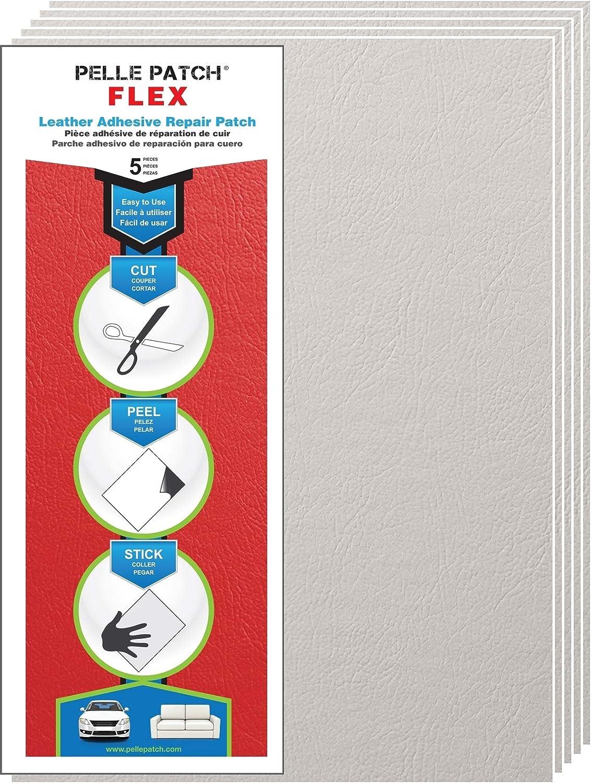 25 Colors Available Flex 8x11 Pelle Patch 5X Leather /& Vinyl Adhesive Repair Patch Camel