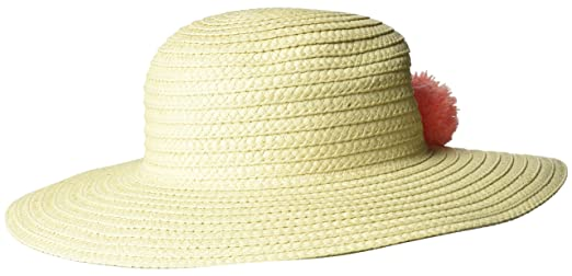 Gymboree Toddler Girls  Pom Straw Hat f1f992a05852