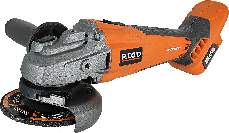 RIDGID Angle Grinder Cordless Brushless 18V Adjustable Handle Position Tool Only